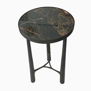 Französischer Beistelltisch aus Bronze und schwarzem Marmor