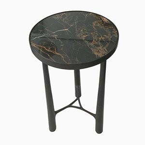 French Bronze and Black Marble Side Table