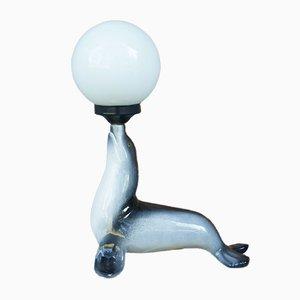 Italienische Mid-Century Tischlampe von Woka, 1950er
