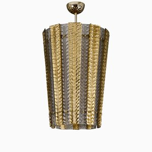 Vintage Murano Glass Lantern Pendant Lamp