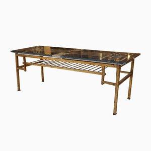 Table Basse en Marbre & Laiton, 1950s