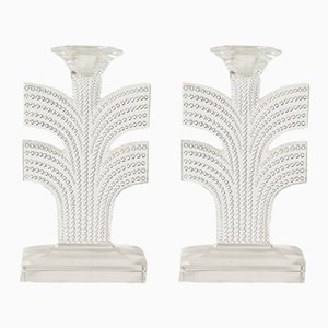 Tokyo Candleholders by Rene Lalique, 1930s, Set of 2