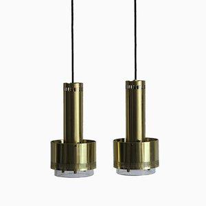 Danish Lamps by Kay Kørbing for Lyfa, 1960s, Set of 2