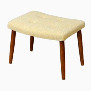 Vintage Danish Yellow Curved Footstool