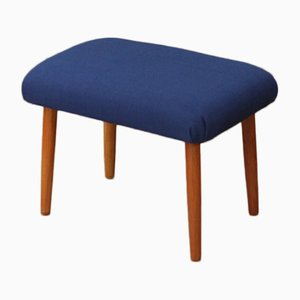 Vintage Navy Blue Footstool