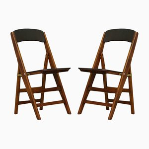Vintage Folding Chairs, Set of 2