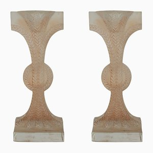 Rameaux Candlesticks by René Lalique, 1934, Set of 2