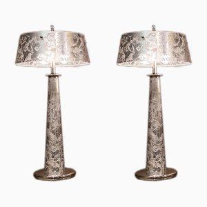Table Lamps by Attilio Amato for Leone Aliotti, 1980s, Set of 2