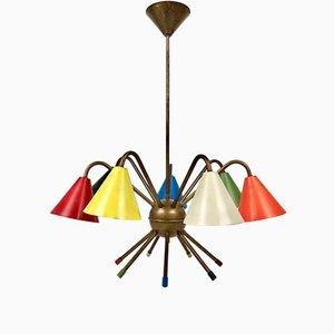 Lámpara de techo Sputnik atómica italiana de Stilnovo, años 50