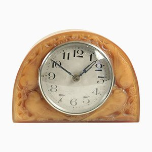 Moineaux Clock by Rene Lalique, 1924