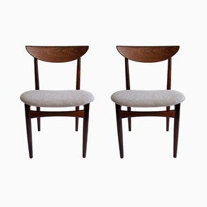 Mid-Century Esszimmerstühle von Lane Furniture, 2er Set
