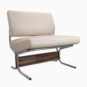 Weißer Sessel aus Kunstleder von Pierre Guariche für Meurop, 1966