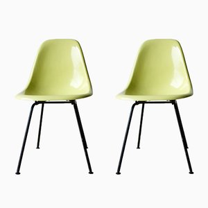 Vintage DSX Fiberglass Chairs by Charles & Ray Eames for Herman Miller, Set of 2