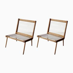 French Lounge Chairs by George Tigien, 1950s, Set of 2