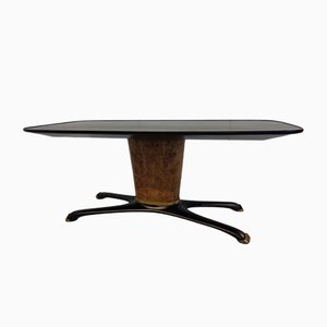 Stained Walnut & Brass Dining Table by Vittorio Dassi, 1956