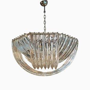 Geschwungener Kronleuchter aus Murano-Kristallglas von Carlo Nason