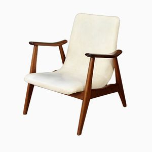 Vintage Sessel mit niedriger Rückenlehne von Louis van Teeffelen