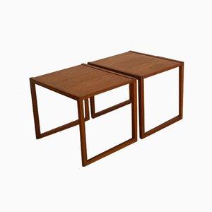 Tables d'Appoint en Teck par Kai Kristiansen pour Vildbjerg, 1960s, Set de 2