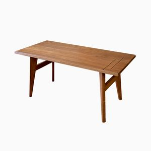 Mid-Century Teak Coffee Table with Inlay