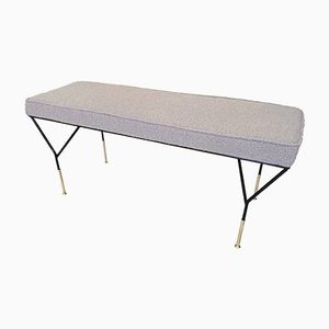 Bouclette Fabric Bench, 1960s