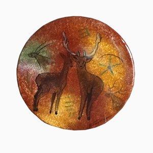 Lascaux Ceramic Plate by Georges Tardieu, 1960s