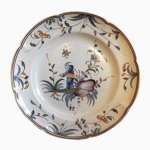 Antique Earthenware Dish from Saint Clément