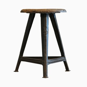 Vintage Tripod Stool by Robert Wagner for Rowac