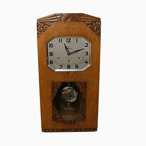 Vintage Art Deco Wall Clock from Vedette