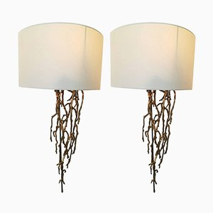Vintage Model Coral Brass Sconces, Set of 2