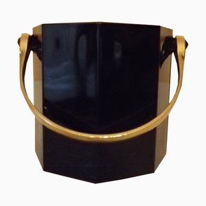 Vintage Black Ice Bucket from Luminarc