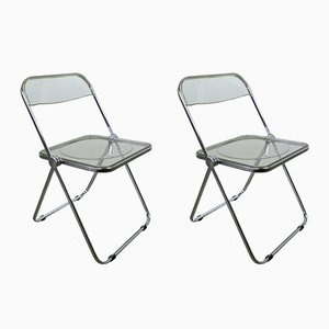 Model Plia Folding Chairs by Giancarlo Piretti for Castelli, 1980s, Set of 2