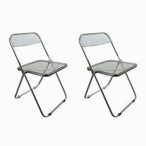 Model Plia Folding Chairs by Giancarlo Piretti for Castelli, 1980s, Set of 2