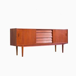 Vintage Swedish Sideboard with Sliding Doors and Drawers by Nils Jonsson for Hugo Troeds