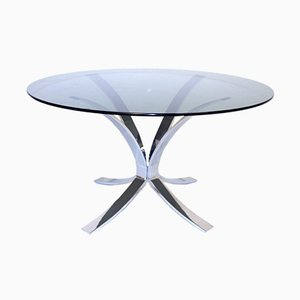 Chrome and Glass Coffee Table, 1960s