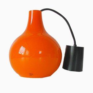Orange Vintage Deckenlampe von Peill & Putzler