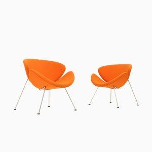 Sillas Orange Slice de Pierre Paulin para Artifort, años 70. Juego de 2