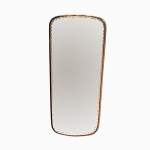 Espejo con marco de latón de Lachmayr, años 50