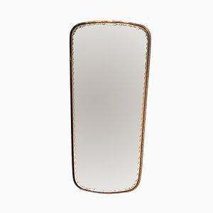Spiegel mit Messingrahmen von Lachmayr, 1950er