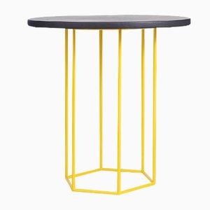 Tavolino da caffè Alejandro nero e giallo di Kerem Aris per Uniqka