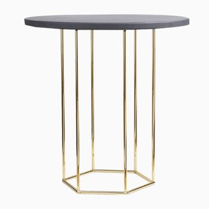 Tavolino da caffè Alejandro grigio e color oro di Kerem Aris per Uniqka