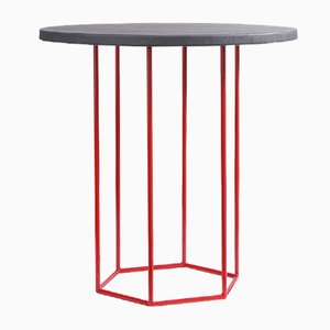 Grey & Red Alejandro Coffee Table by Kerem Aris for Uniqka