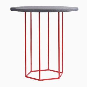 Tavolino da caffè Alejandro grigio e rosso di Kerem Aris per Uniqka