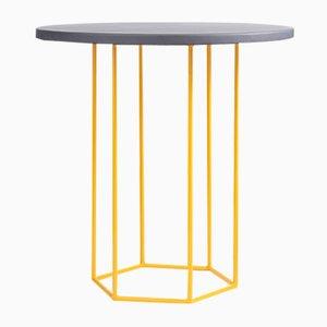 Tavolino da caffè Alejandro grigio e giallo di Kerem Aris per Uniqka