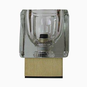 Lámpara de mesa vintage de vidrio y metal de Peill & Putzler