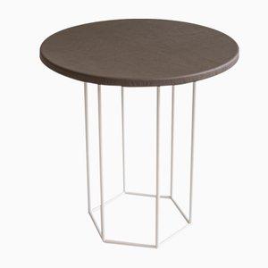 Tavolino da caffè Alejandro grigio talpa e crema di Kerem Aris per Uniqka