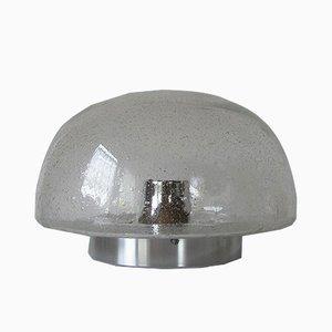 Lampada da soffitto o da parete vintage in vetro con bolle di Doria Leuchten