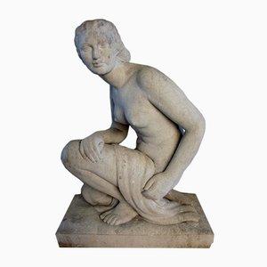 Große Vintage Steinfigur von Lucien Gibert