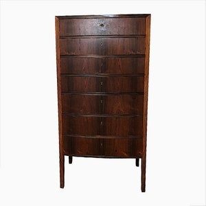 Vintage Rosewood Chest of Drawers by Ole Wanscher for A. J. Iversen