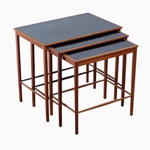 Tavoli ad incastro in teak di Grete Jalk per Poul Jeppesens Mobelfabrik, anni '50