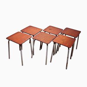 Bauhaus Arbeitshocker, 6er Set